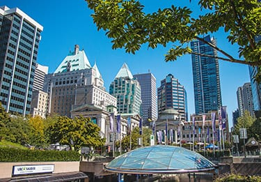 Exterior of Downtown Vancouver Robson Square