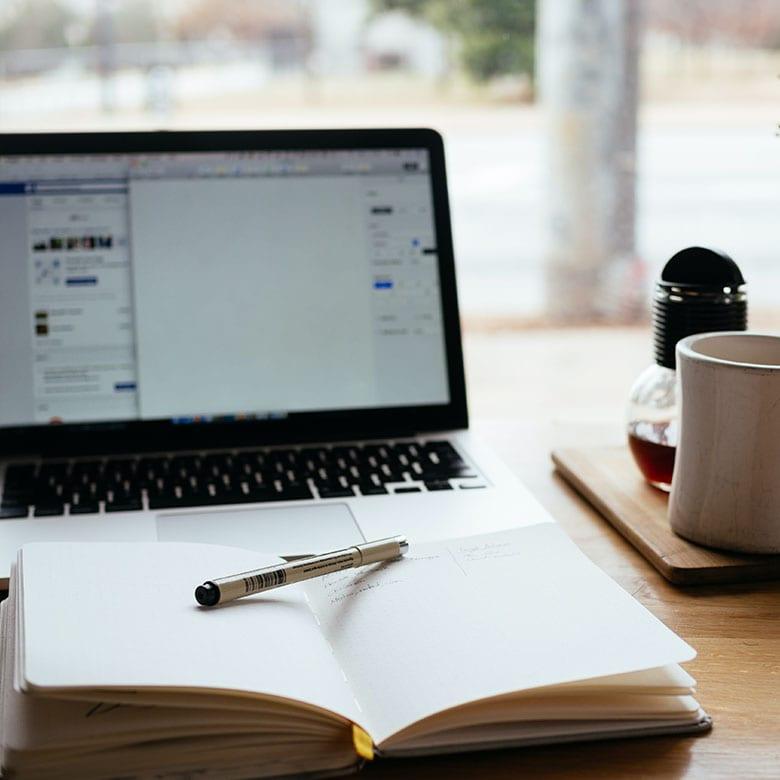 Alexander College student preparing for online exam