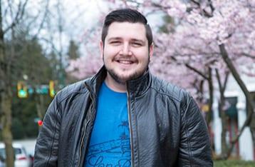 Student Enjoying Vancouver Cherry Blossom