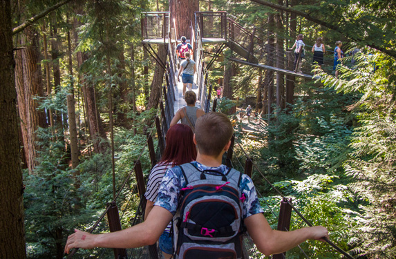 Vancouver's top tourist attractions at Capilano Suspension Bridge Park