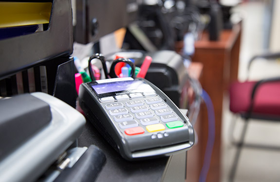 Credit and Debit Machine for Payments