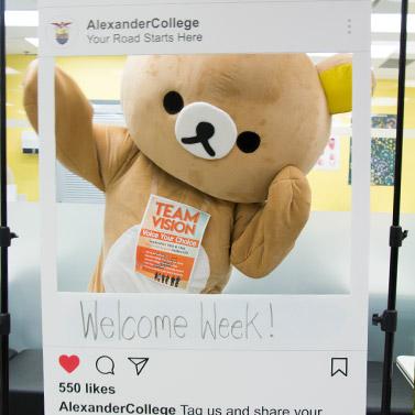 Rilakkuma School Mascot at Alexander College