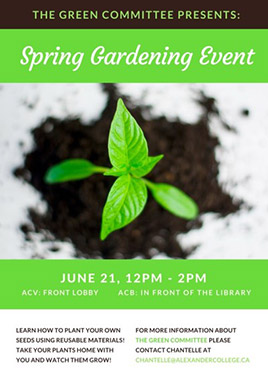 Spring Gardening Event poster