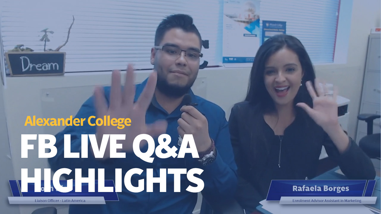 AC FB Live Q&A Highlights, Alexander College