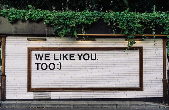 'We Like You' Social Media Wall Art