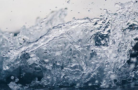 Water splashing suggesting the importance of drinking water