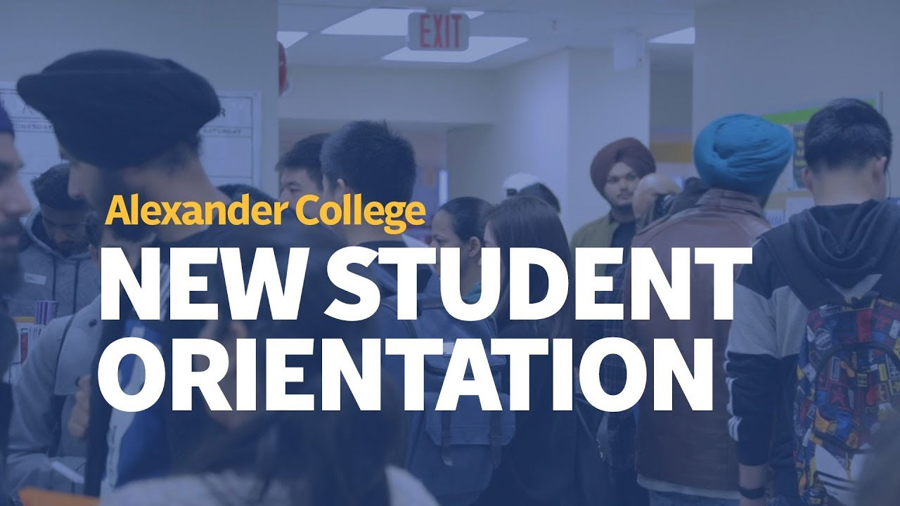 New Student Orientation, Alexander College