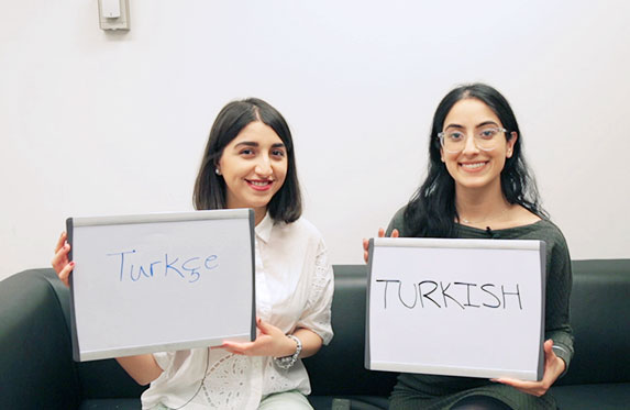 Alexander student teaching Turkish