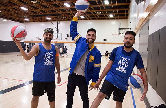 Vancouver Students Playing Basketball