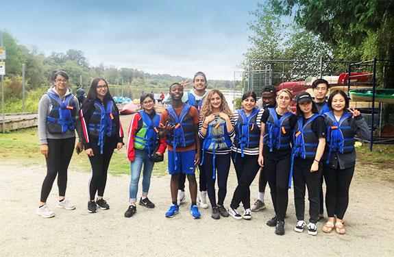 Students at Deer Lake Kayaking