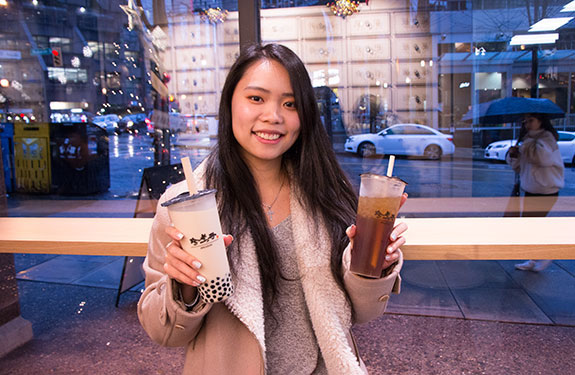Vancouver Student with Bubble Tea