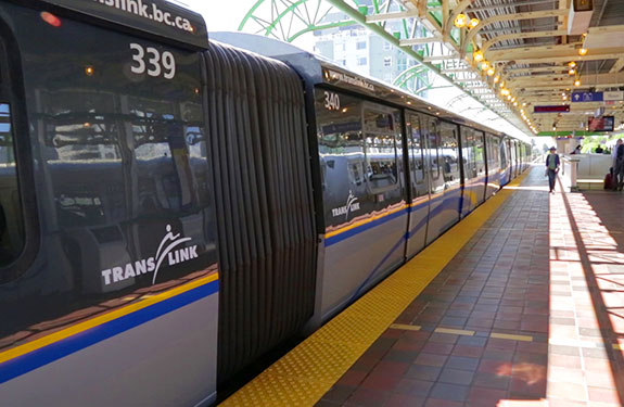 Translink Skytrain at Station