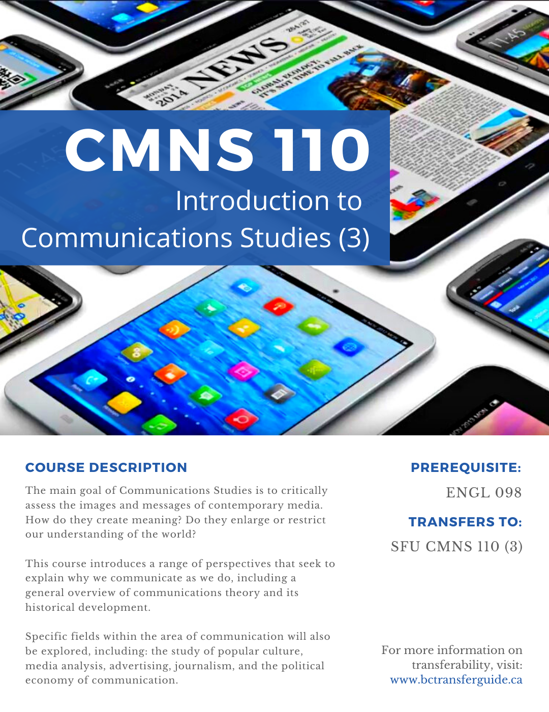 Communications studies courses at Alexander College