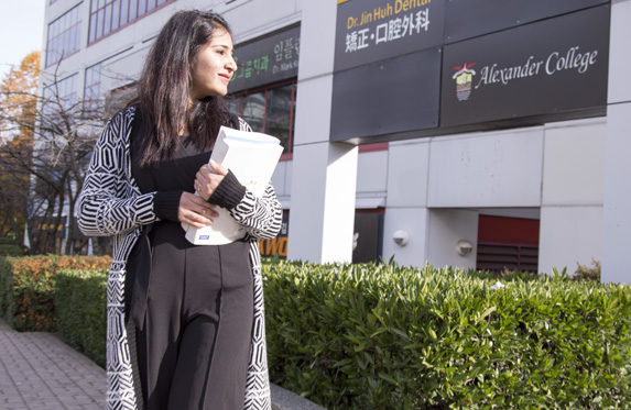 new international student at alexander college