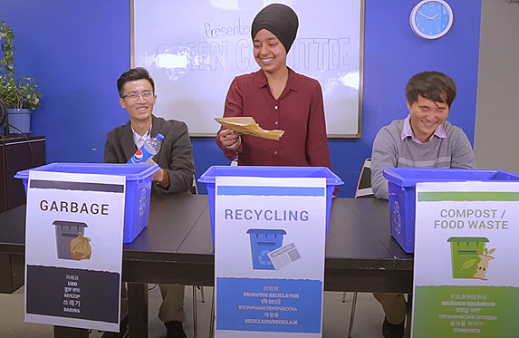 Green Committee Waste Sorting at alenxader college