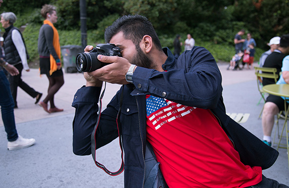 student vlogger at alexander college