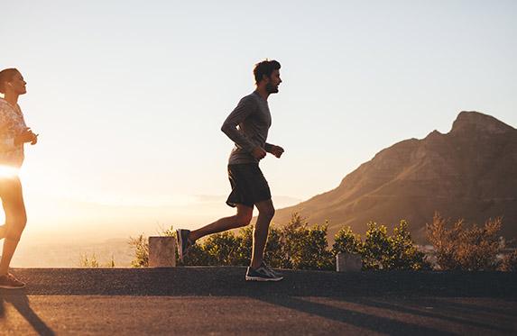 young man on morning run